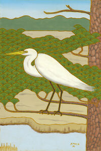 'Great White Egret' by Walter's brother Mac Anderson