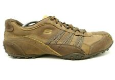 Skechers Brown Leather Casual Lace Up Driving Sneakers Shoes Men's 11