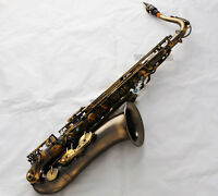 SALE Professional Bb Antique Tenor Saxophone Abalone Key High F# sax New Case