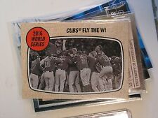 Chicago Cubs Win the World Series 2017 Topps MLB Heritage Trading Card 158