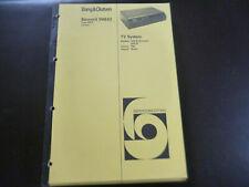 Original Service Manual Schaltplan Bang&Olufsen Beocord VHS 62