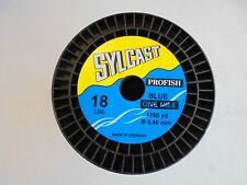 Sylcast 1 mile spool 18lb monofilament fishing line. blue