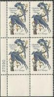 Plate Block of 4 stamps. Scott #1241 - 5 cent - Artist Audubon - 1963 - Mint