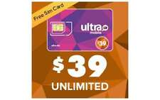Preloaded with the $39 Unlimited Monthly Plan  - Ultra Mobile Dual-Cut Sim Card