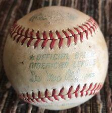 Vintage Official American League Lee Macphail President Blank Baseball Ball ⚾�