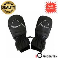Winter Mittens 1 Pair Womens Mens Thermal Waterproof Windproof Zip Pocket Black