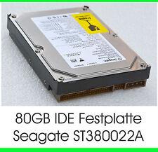 """3,5"""" 8,89 CM 80GB 80GB IDE HARD DRIVE HDD SEAGATE ST380022A HARD DRIVE OK - F21"""