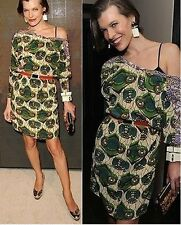 NEW MARNI H&M GREEN  DRESS *100% BEAUTIFUL SILK*  US4 / EU34 / UK 8  VERY CHIC