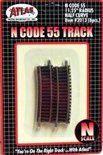 "ATLAS (N-Scale) #2013 - Code 55 Track - 11-1/4""  Radius Half Curve pkg(6) - NIB"