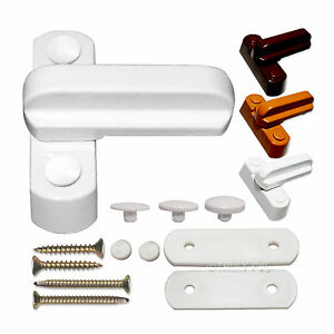 2 x Sash Jammer + Fitting Screws, UPVC PVC Window Door Lock, High Security Arm