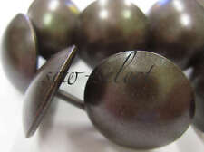 50 LARGE 19mm antique brass upholstery nails NON RUST SOLID BRASS + brown finish