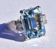 Aquamarine Diamond Ring 8.29ct