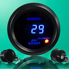 "New Vehicle 2"" 52mm Blue Led Digital For -14~30 PSI Turbo Boost Gauge Meter AU"