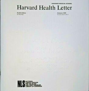Harvard Health Letter ~ December 2020 (Braille for the Blind)