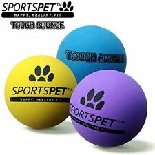 Sportspet Tough Bounce Dog Toy - Hand Stitched - Durable - Pack of 3