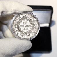 Pièce argent 10 francs Hercule dans son écrin, cadeau idéal !