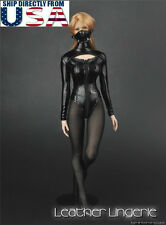 "1/6 Sexy Leather Lingerie Suit Set For 12"" Phicen Hot Toys Female Figure U.S.A."