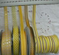 YELLOW & Mixed - Polyester 10-13mm Wide 3, 5 & 10 Metres 5 Design Style Choice