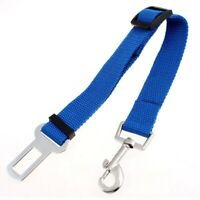Nylon Adjustable Lobster Clasp Car Seat Dog Puppy Pet Safty Belt Blue R1N9