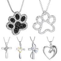 Women Men Horse Animal Print Cross Necklace Pendant Jewelry Charm Gift Fashion