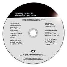 Windows 8.1 32 & 64 Bit - Install - Restore - Repair - Recovery DVD Drive Disk
