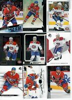 LOT OF 40 VARIOUS MONTREAL CANADIENS HOCKEY CARDS PRICE, WEBER, SUZUKI