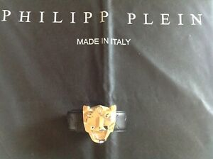 Philipp Plein Gürtel 115 cm goldene Schnalle