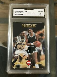 George Gervin/ Erick Dampier 1996 Collectors Edge #5 Time Warp Grade NM-MT GMA 8
