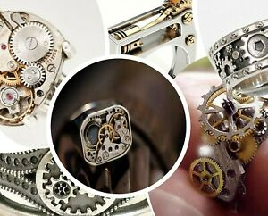 Unique STEAMPUNK Rings Mechanical Cogs Gears Zinc Alloy Band Vintage Goth Ring