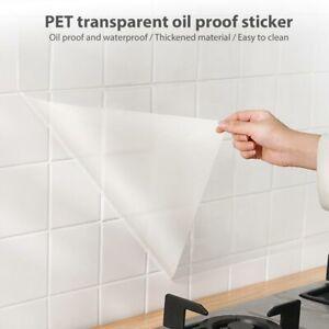 Küchenrückwand Spritzschutz FolieFliesenfolie Wandschutzfolie Anti-Öl-Aufkleber