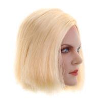 1/6 Blonde Short Hair Female Head Sculpt for 12'' Hot Toys Kumik CY CG Body