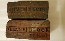 2 Indy 500 INDIANAPOLIS MOTOR SPEEDWAY Culver Block Brick Relic 1901
