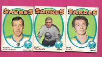 1971-72 OPC SABRES LUCE RC  + ATKINSON RC + HILLMAN  CARD  (INV# D3328)