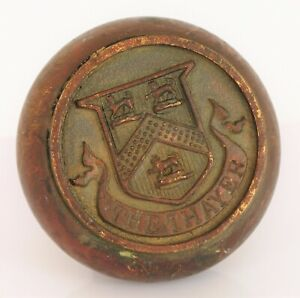 ANTIQUE HISTORIC THE THAYER HOTEL HUDSON RIVER WEST POINT BRONZE DOOR KNOB RARE