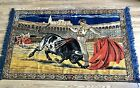 "Vintage Tapestry Spanish Bull Fighting Matador Wall Hanging 48"" x 70"""