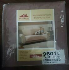 Madison Waterproof Sofa Pet Protector Couch Cover Taupe Sofa Size