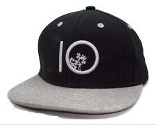 Tentrees  Black & Heather Gray Flat Bill Snapback Cap Hat
