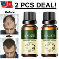 2x Hair Growth Products For Men Women Natural Oil Serum Loss Grow Fast Treatment