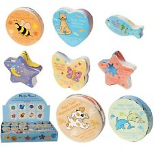 Magic Expanding Flannel Kids Wash Cloth Animals Moon & Stars Dog Cat Butterfly