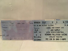Air Supply 2 Concert Ticket Stubs Ontario Canada