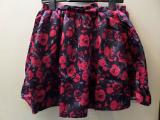 Cherokee Girls Black/Red Rose Satin Party Skirt - BNWT