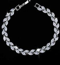 Clear CZ Leaf Bracelet