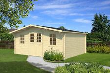 34 mm Gartenhaus 400x400 cm Holz Gerätehaus Blockhaus Schuppen Holzhaus Hütte