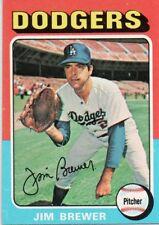 1975 Topps Mini #163 Jim Brewer Los Angeles Dodgers (2018-0741)