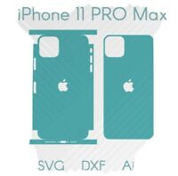 iPhone 11 Pro Max Full Wrap Skin Cutting Template AI DFX SVG Download  Cricut
