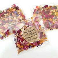 Red Rose Petal Natural Biodegradable Wedding Confetti Dried Petal Bags PACKETS