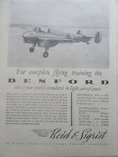 3/1946 PUB REID & SIGRIST KIRDY MUXLOE DESFORD TRAINER AIRCRAFT AVION AD