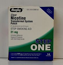 -Rugby Nicotine Transdermal System 14 Clear Patches Step 1 (21mg)