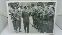 Vintage Repro WW2  Postcard King George VI inspects the Home Guard Norwich 1942