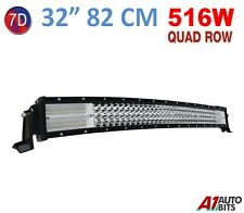 """7D 32"""" 516W Curved Led Work Roof Light Bar Spot Flood Driving For Truck Boat Suv"""
